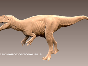 Carcharodontosaurus1:72 v2 in White Strong & Flexible