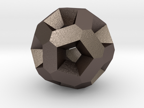 Dodecahedron Even More in Polished Bronzed Silver Steel