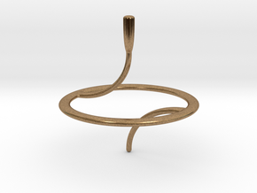 Less Is More Spinning Top (small) in Natural Brass