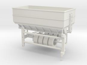1:64 Center Dump Wagon in White Natural Versatile Plastic