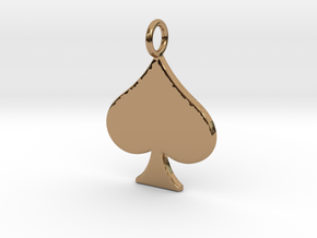 QoS Pendant  in Polished Brass