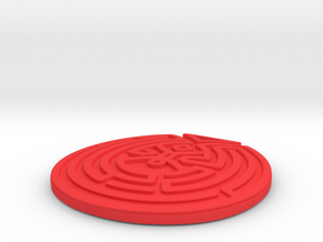 WestWorld maze Pendant in Red Processed Versatile Plastic: Large