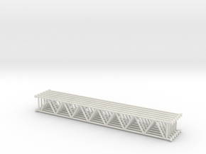 Lattice girder 01. 1:24 Scale in White Natural Versatile Plastic