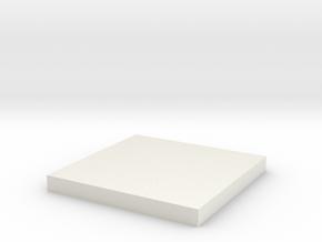 Lens Cap Square for Tie in White Natural Versatile Plastic