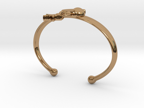 ANDROMEDA ARM CUFF in Interlocking Polished Brass: Extra Small