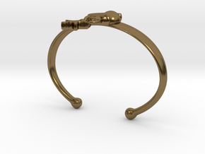 ANDROMEDA ARM CUFF in Polished Bronze (Interlocking Parts): Extra Small