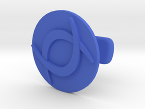 Double C Cufflink  in Blue Processed Versatile Plastic