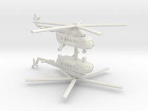 1/350 Mil Mi-17 Hip (x2) in White Natural Versatile Plastic