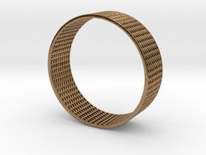 Abstract Bracelet (77 mm-diameter) in Natural Brass