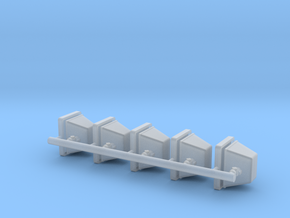 1-24 Halogen Heads Adj Base X5 in Smooth Fine Detail Plastic