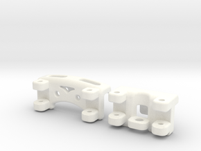 E-REVO Double Bracing Mount (Front & Rear) in White Strong & Flexible Polished
