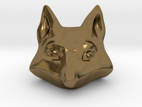 Large Foxhead Medallion in Polished Bronze