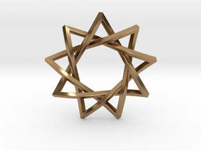 9 Pointed Penrose Star in Natural Brass