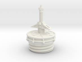 sword tube cap in White Strong & Flexible