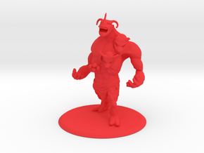Brute Creature in Red Processed Versatile Plastic
