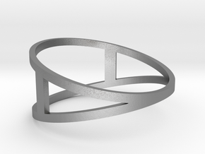 The A Ring in Natural Silver: 6 / 51.5