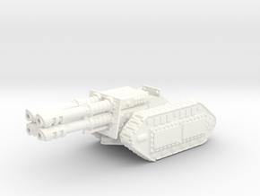 28mm Reaver laser gun in White Strong & Flexible Polished