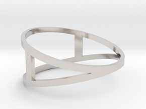 The A Ring in Rhodium Plated Brass: 7 / 54
