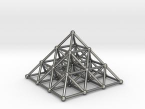 Pyramid Matrix - 3x3 Grid in Polished Silver