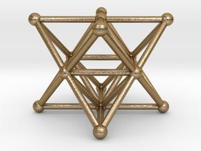 Merkaba - Star tetrahedron in Polished Gold Steel