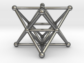 Merkaba - Star tetrahedron in Polished Silver