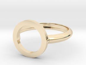 O Ring in 14K Yellow Gold