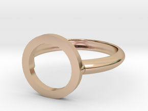 O Ring in 14k Rose Gold Plated