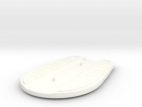Hover Board (Disc) (2pegs) in White Strong & Flexible Polished