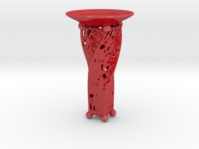 Candle Holder JK in Gloss Red Porcelain