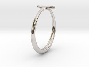 Cygnus Olor Swan Ring 6 in Platinum