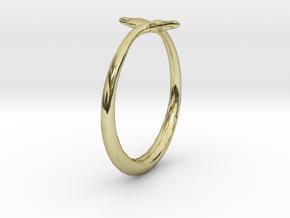 Cygnus Olor Swan Ring 6 in 18K Gold Plated