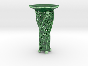 Candle Holder JK in Gloss Oribe Green Porcelain