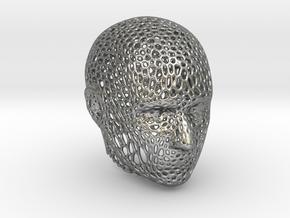 Voronoi Head in Natural Silver