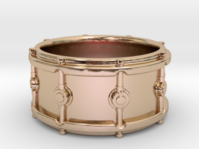 Snare Drum Ring in 14k Rose Gold Plated Brass: 5.5 / 50.25