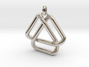 Escher Knot Pendant in Rhodium Plated Brass