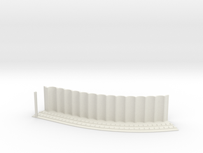 MARKET SUBWAY EL HO SCALE 1 Track Curve45 Pt1  in White Natural Versatile Plastic