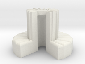 1/100-scale Cray-1 Christmas Ornament in White Natural Versatile Plastic