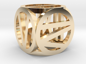 d6 circled Roman number in 14K Yellow Gold