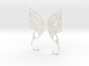 Butterfly Wings- Alternate version in White Processed Versatile Plastic