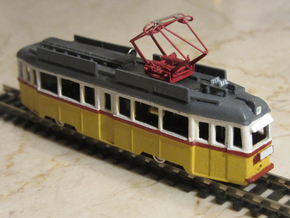 UV Tram From Budapest in 1:160 in Smooth Fine Detail Plastic