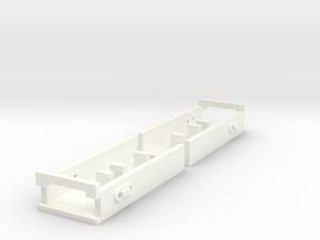 Pecos River Brass O Scale Coupler Receiver in White Processed Versatile Plastic