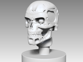 T-800 EndoSkull Bust in White Natural Versatile Plastic