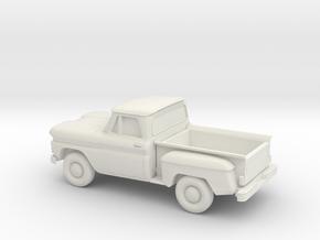 1/87 1961 Chevrolet C-10 Stepside in White Strong & Flexible