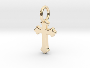 cross pendant in 14k Gold Plated