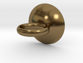 Ring for a Pearl with bowls in Polished Bronze