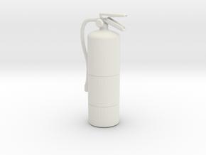 Printle Extinguisher 01-1/24 in White Natural Versatile Plastic