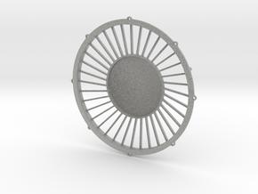 """48"""" dynamic fan grille in 1.6"""" scale in Metallic Plastic"""