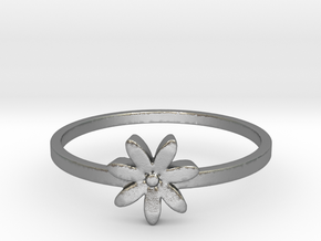 Flower  in Natural Silver: 8.75 / 58.375