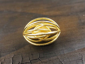 Navette Pendant Large in 14k Gold Plated