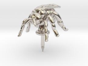 Honeybee Lapel Pin - Nature Jewelry in Platinum